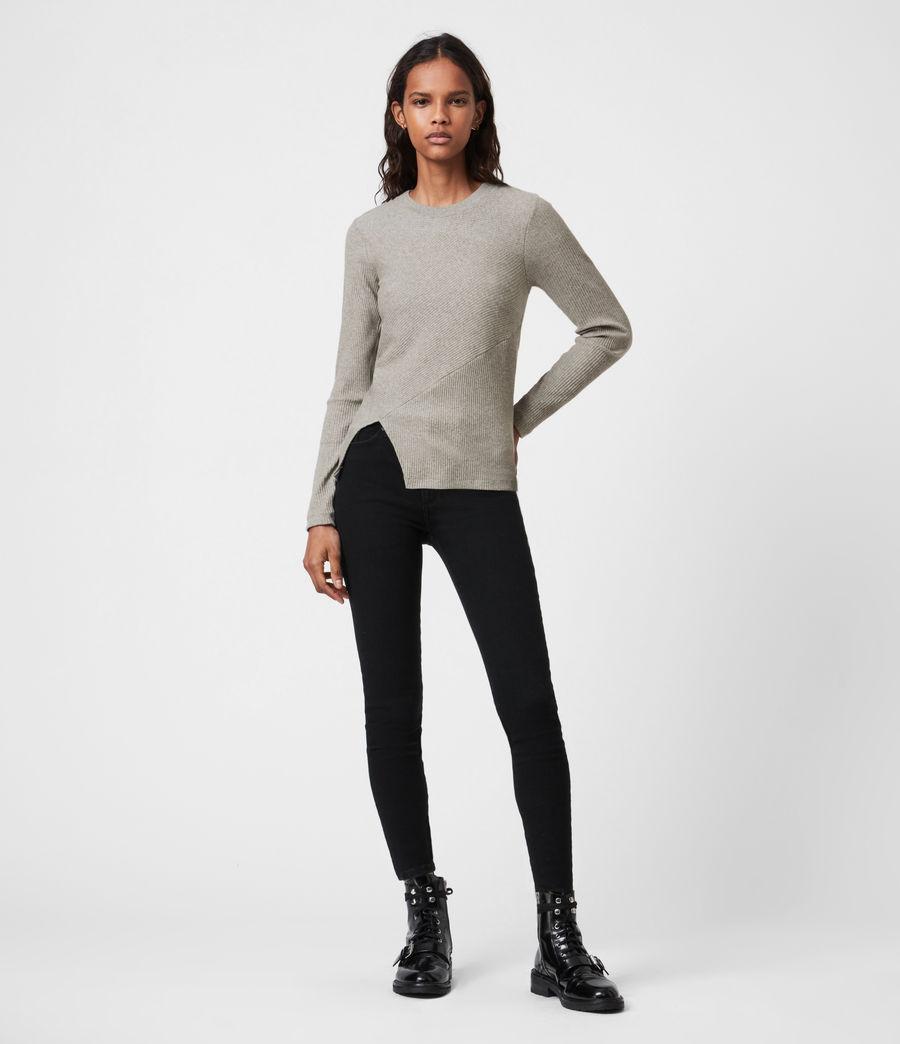 Femmes T-Shirt Manches Longues Gia (grey_marl) - Image 4