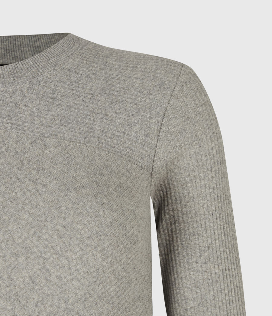 Femmes T-Shirt Manches Longues Gia (grey_marl) - Image 5