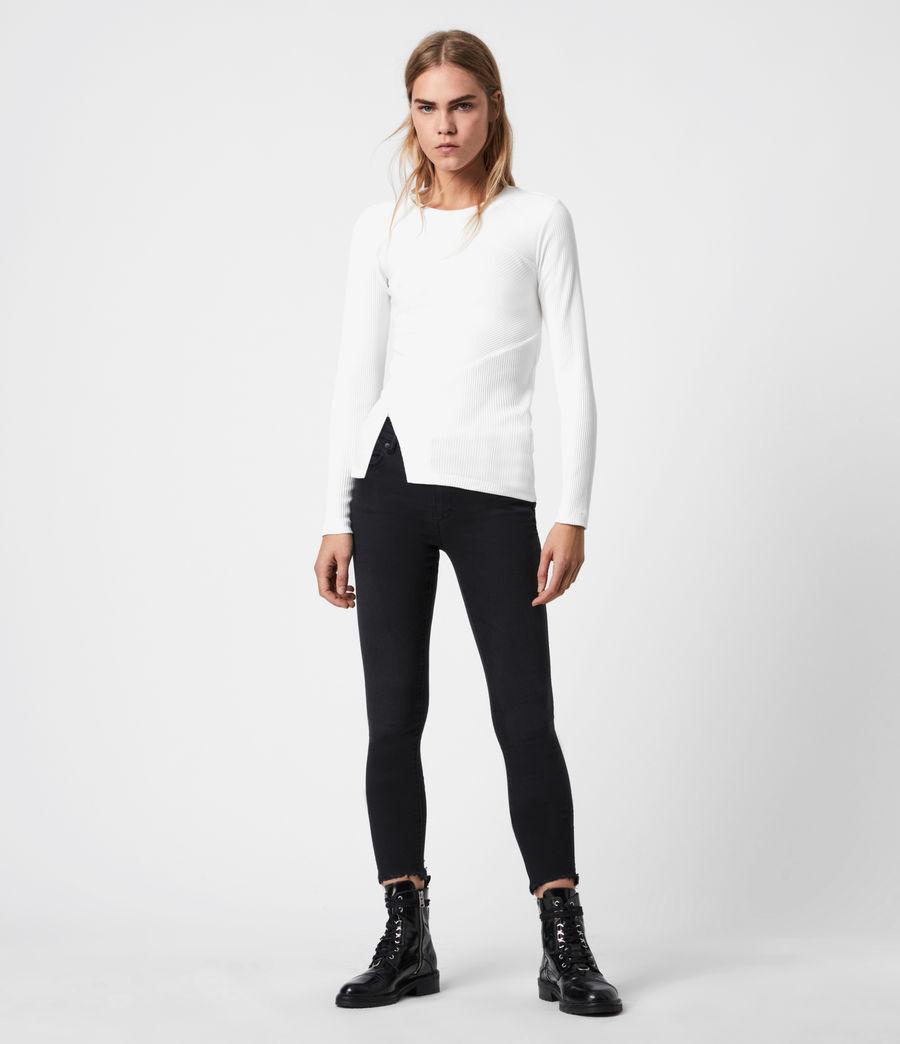 Women's Gia Long Sleeve T-Shirt (grey_marl) - Image 1