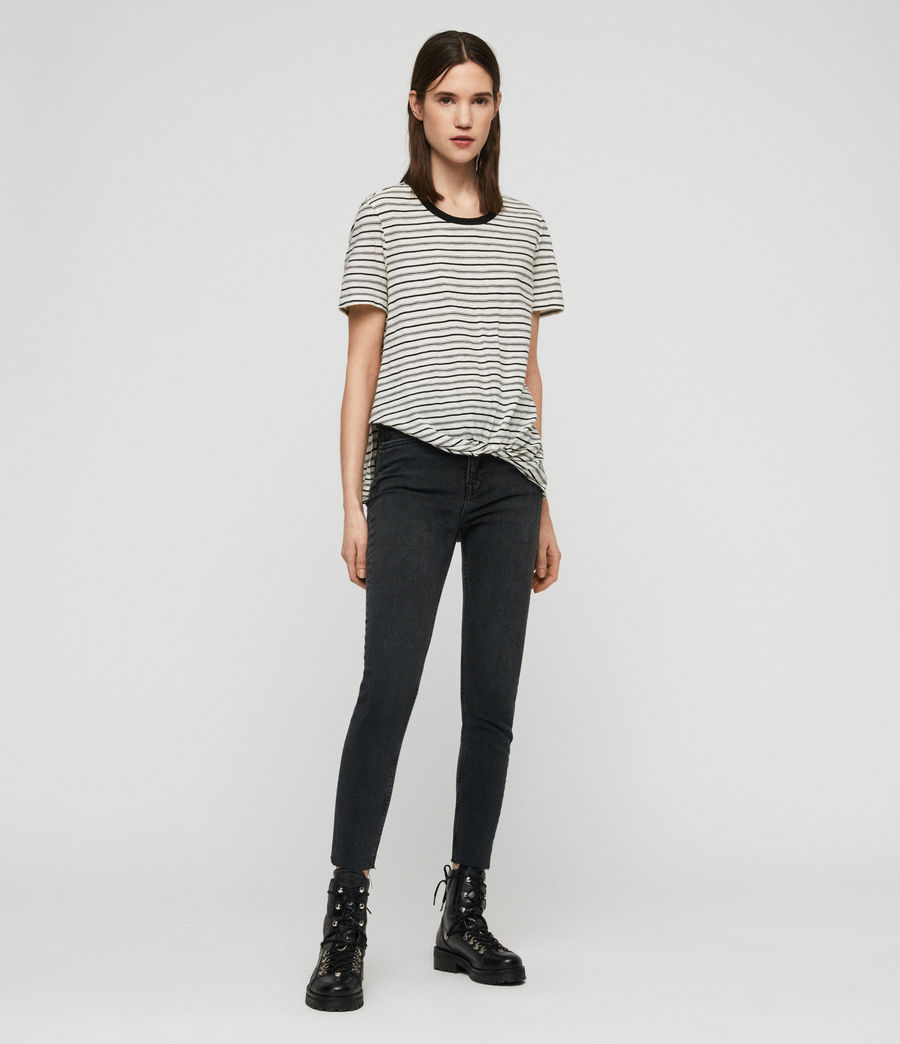 Womens Wilma Stripe T-Shirt (ecru_black) - Image 3