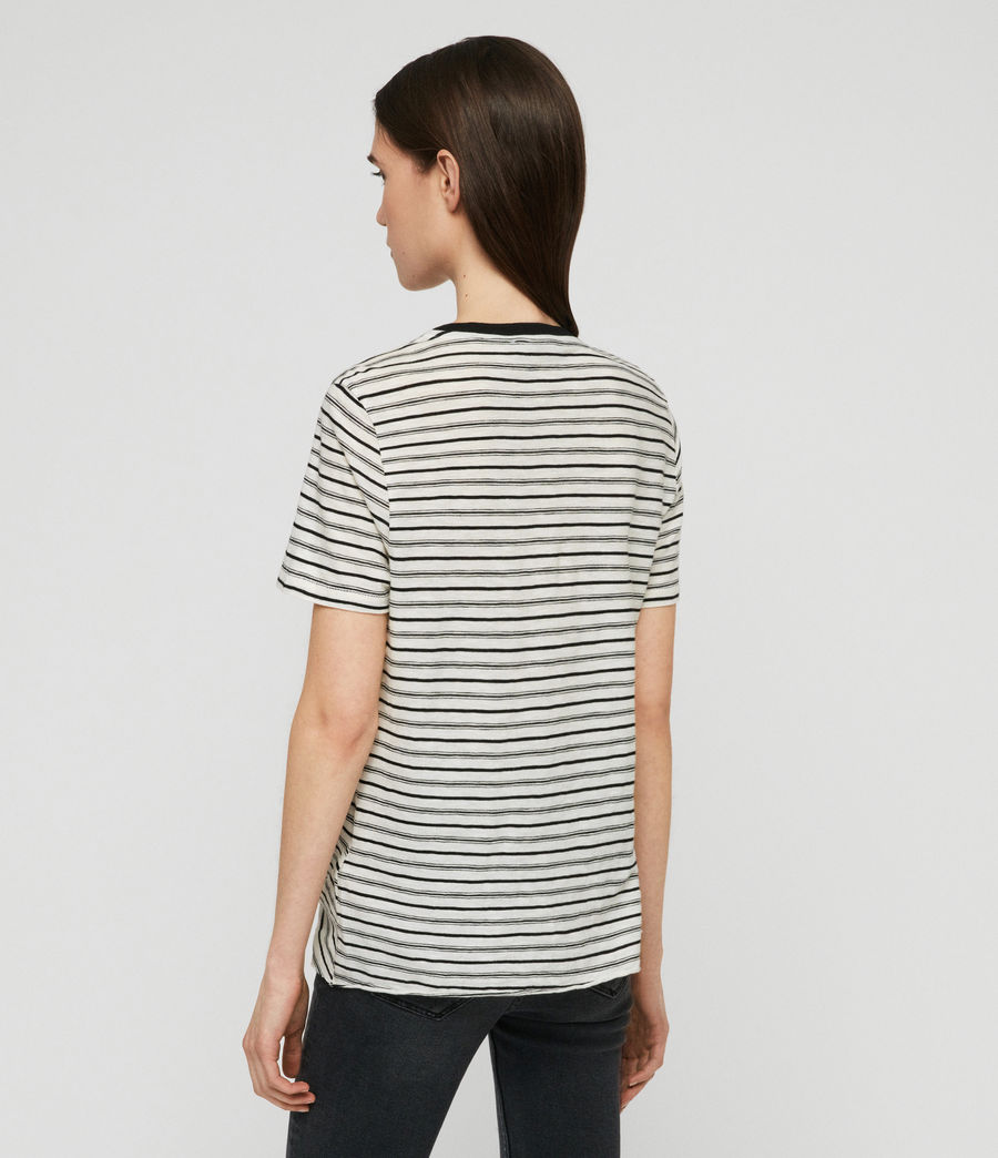Womens Wilma Stripe T-Shirt (ecru_black) - Image 5