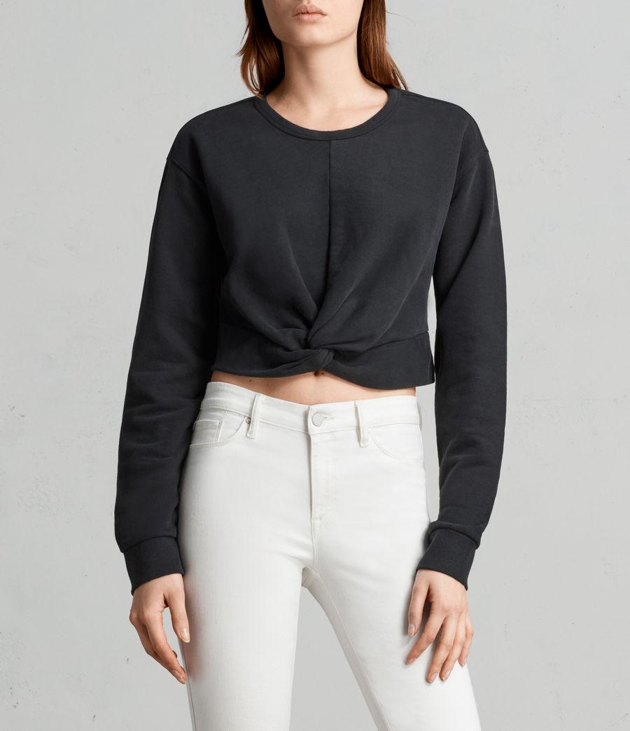 Womens Paloma Cropped Sweatshirt (black) - Image 1