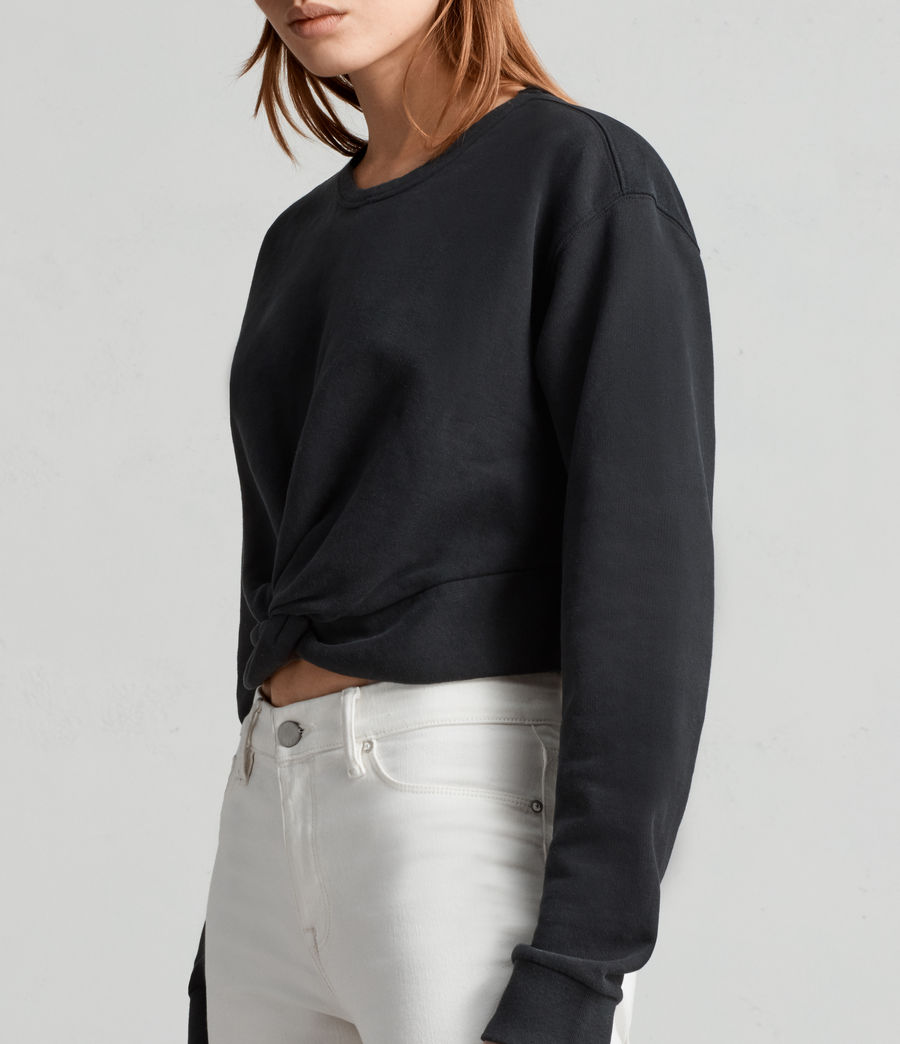 Womens Paloma Cropped Sweatshirt (black) - Image 2