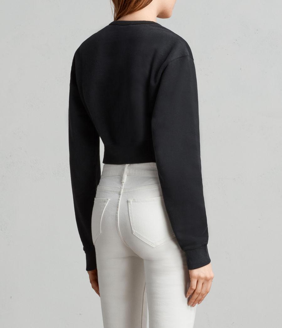 Womens Paloma Cropped Sweatshirt (black) - Image 3