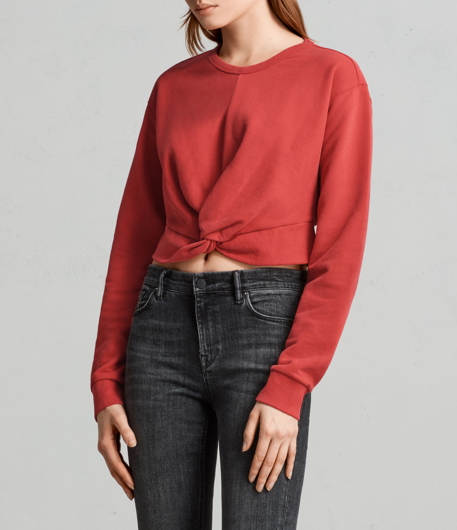 Womens Paloma Cropped Sweatshirt (poppy_red) - Image 1