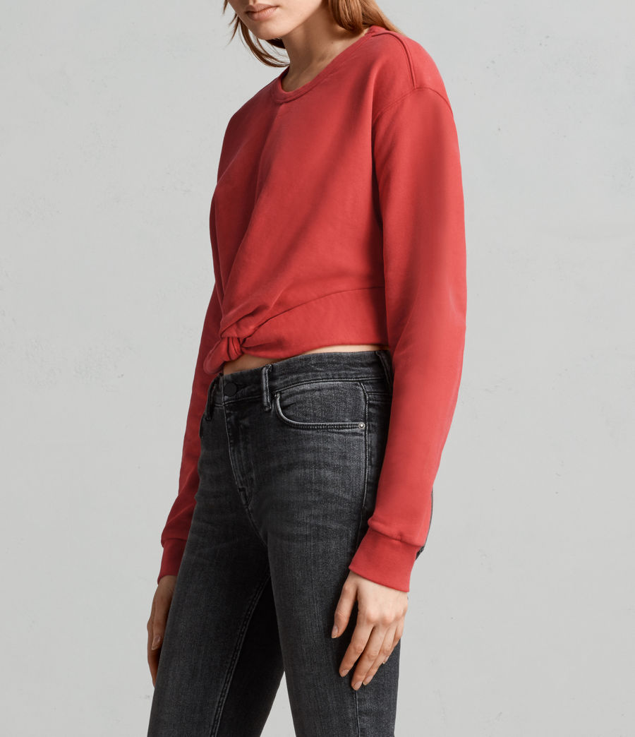 Womens Paloma Cropped Sweatshirt (poppy_red) - Image 2