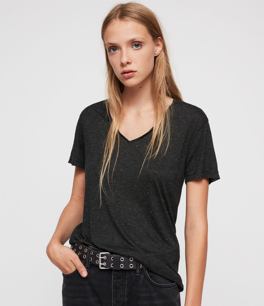 Women's Emelyn Shimmer T-Shirt (charcoal_marl) - Image 1