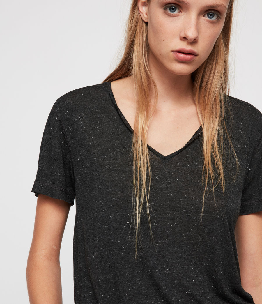Women's Emelyn Shimmer T-Shirt (charcoal_marl) - Image 2