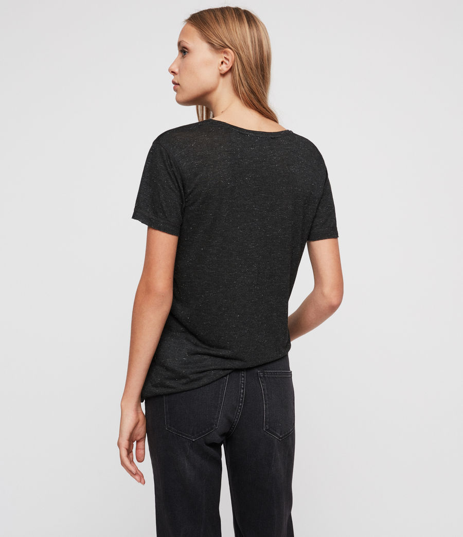 Womens Emelyn Shimmer T-Shirt (charcoal_marl) - Image 4