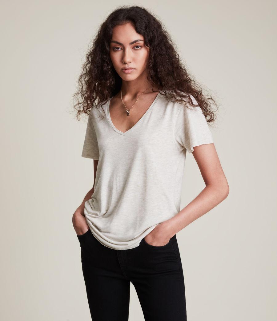 Women's Emelyn Shimmer T-Shirt (stone_marl) - Image 1