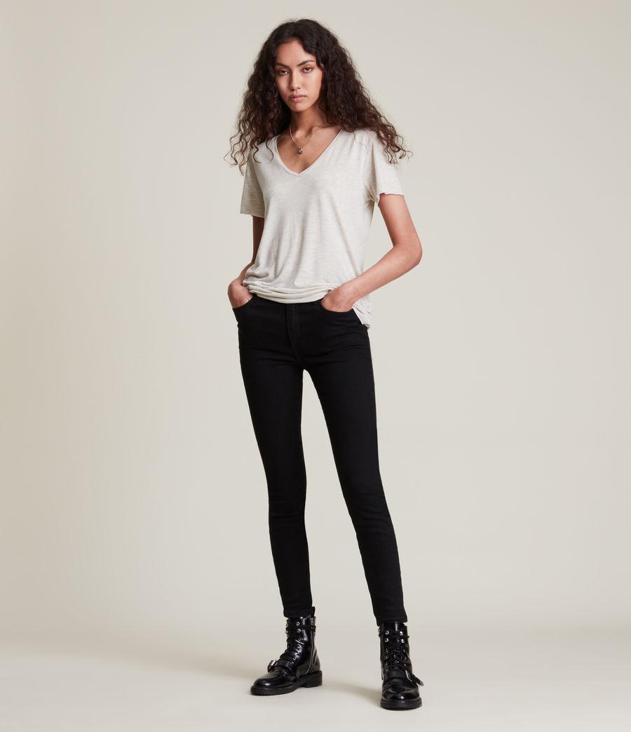 Women's Emelyn Shimmer T-Shirt (stone_marl) - Image 3