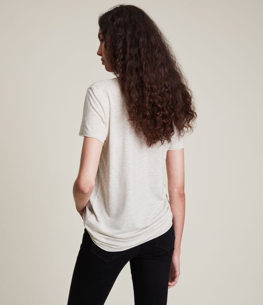 Women's Emelyn Shimmer T-Shirt (stone_marl) - Image 5