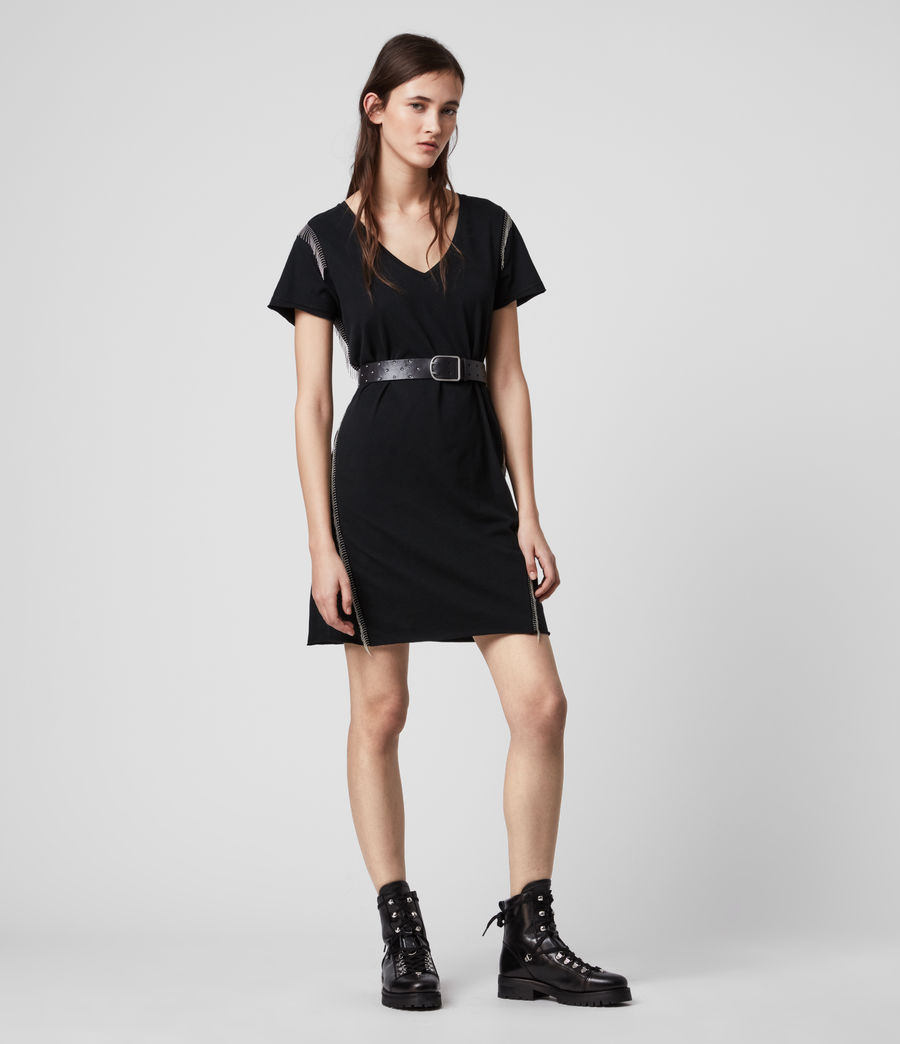 Mujer Emelyn Chain Tee Dress (black) - Image 2