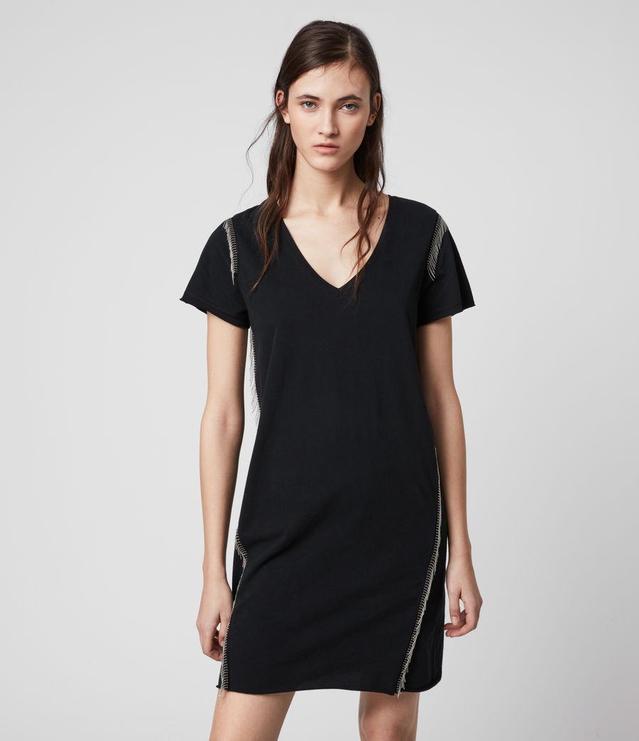 Mujer Emelyn Chain Tee Dress (black) - Image 3