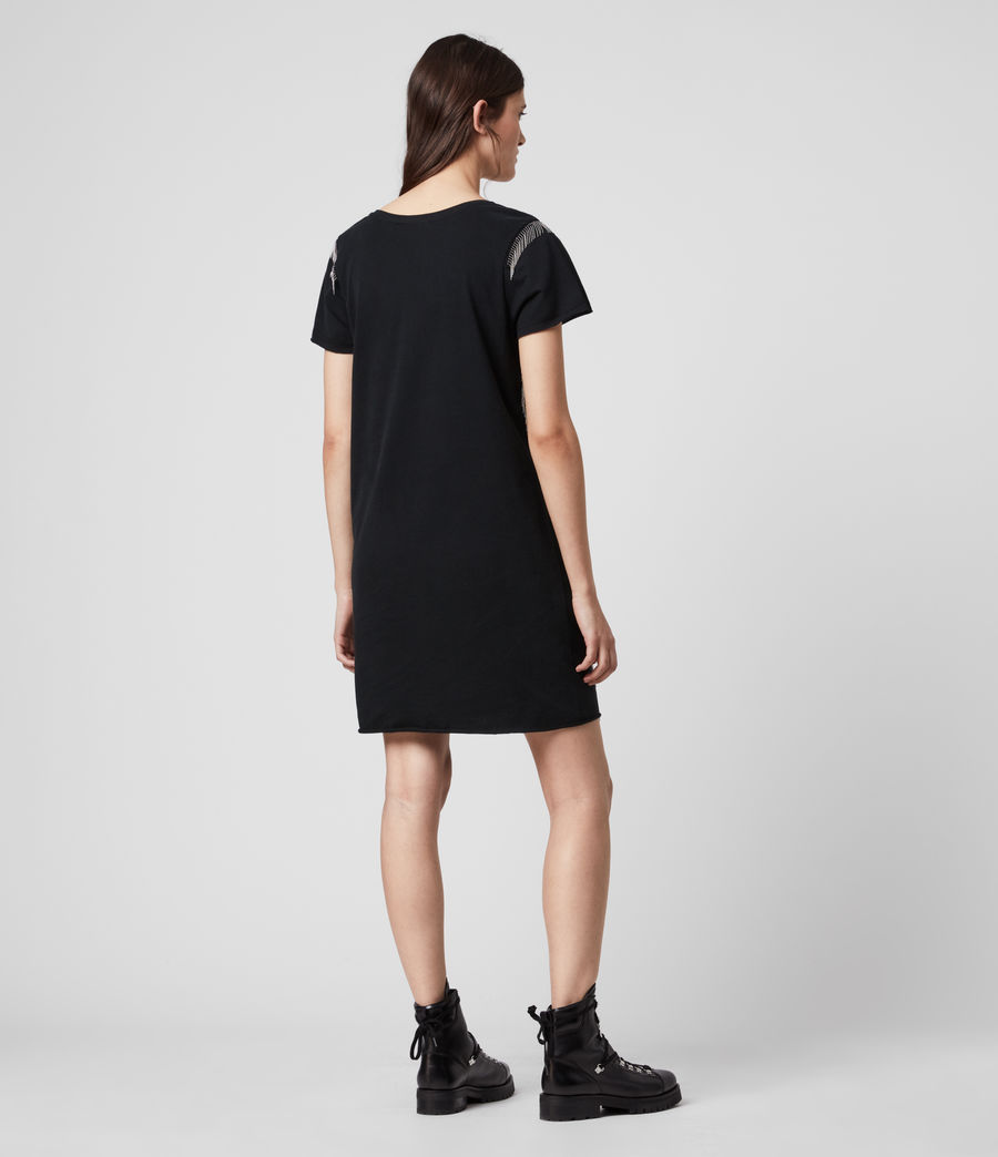 Mujer Emelyn Chain Tee Dress (black) - Image 5