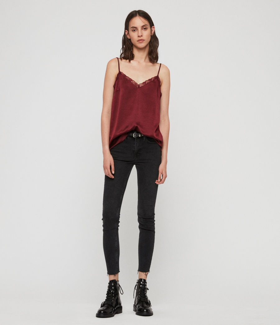 Womens Nia Top (oxblood_red) - Image 1