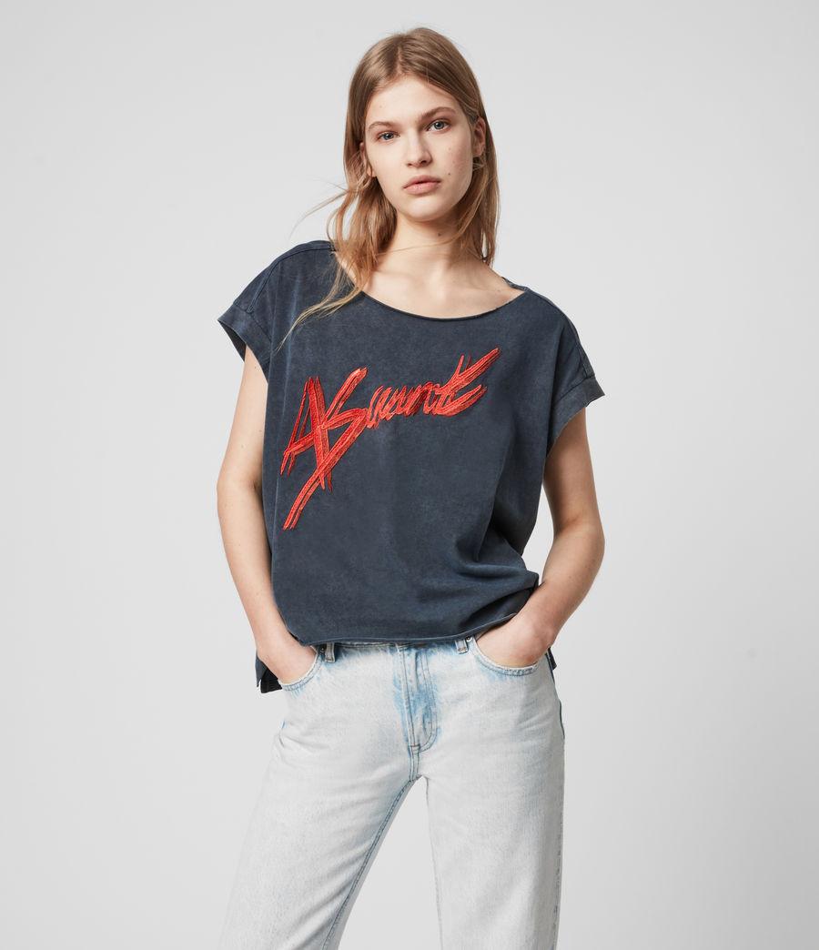 Womens Pina Asaint T-Shirt (washed_black) - Image 1