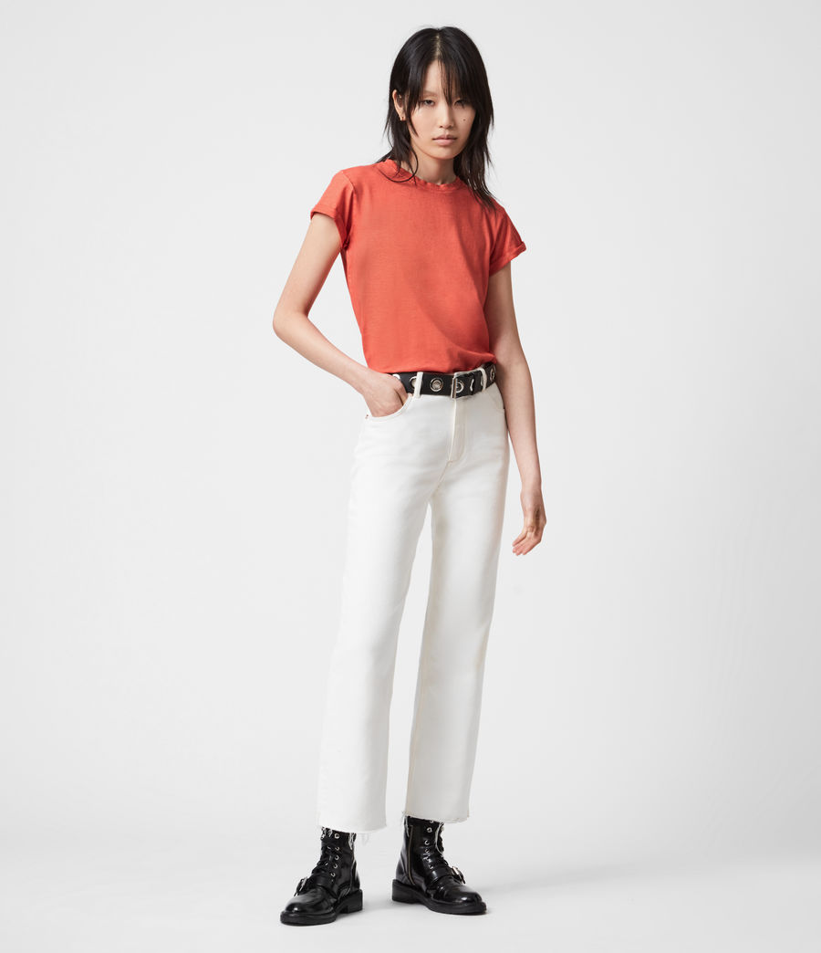 Women's Anna T-Shirt (bright_orange) - Image 4