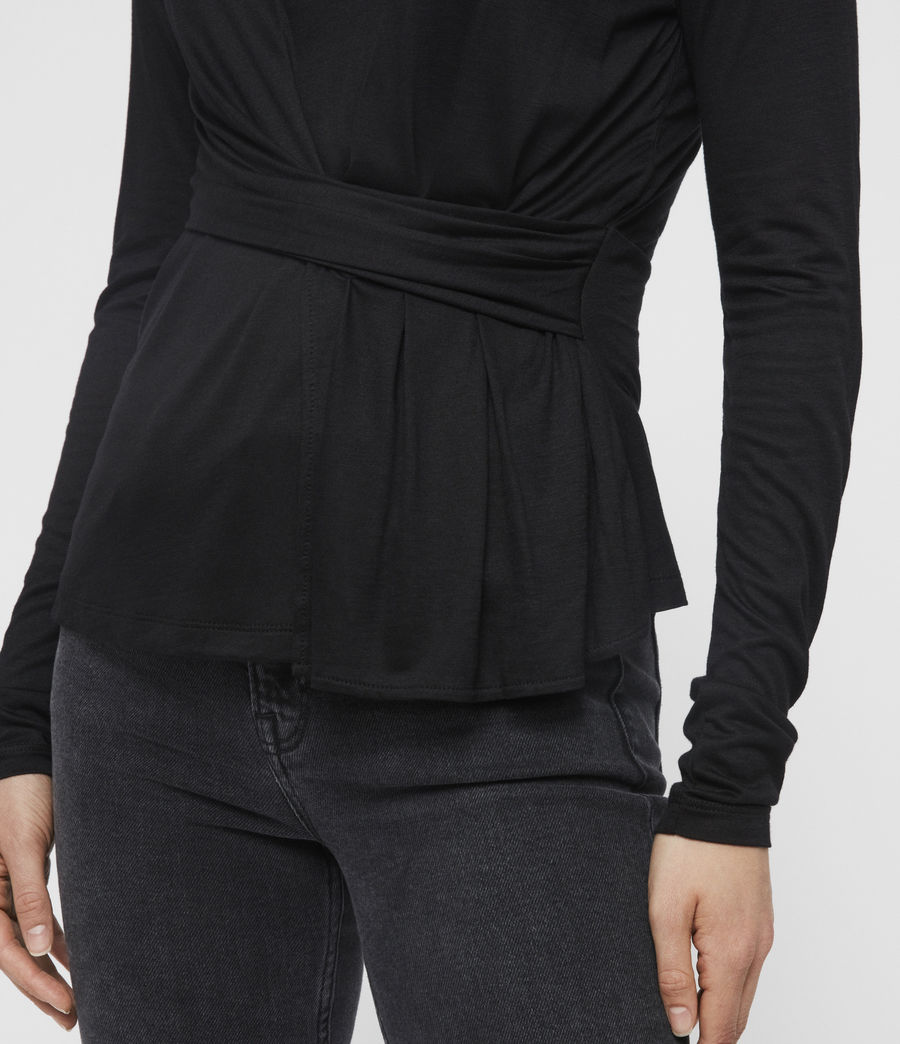 Womens Limera T-Shirt (black) - Image 2