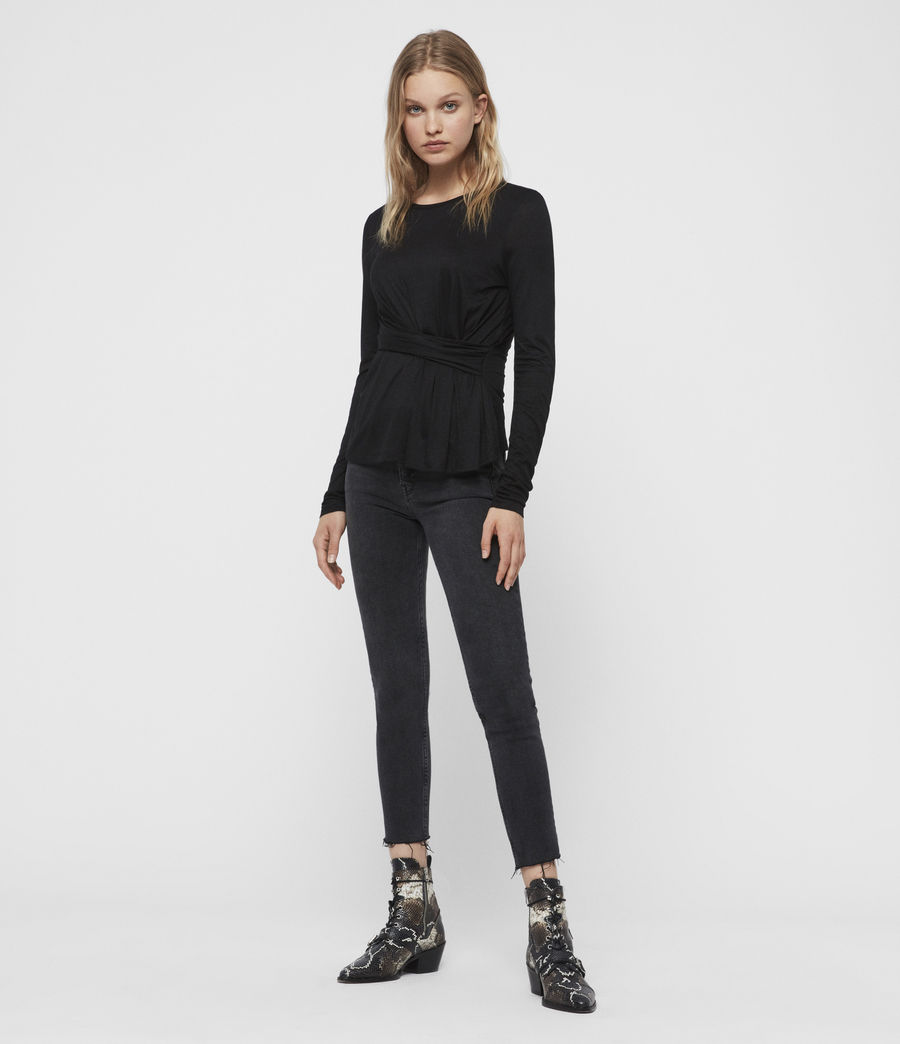 Womens Limera T-Shirt (black) - Image 3