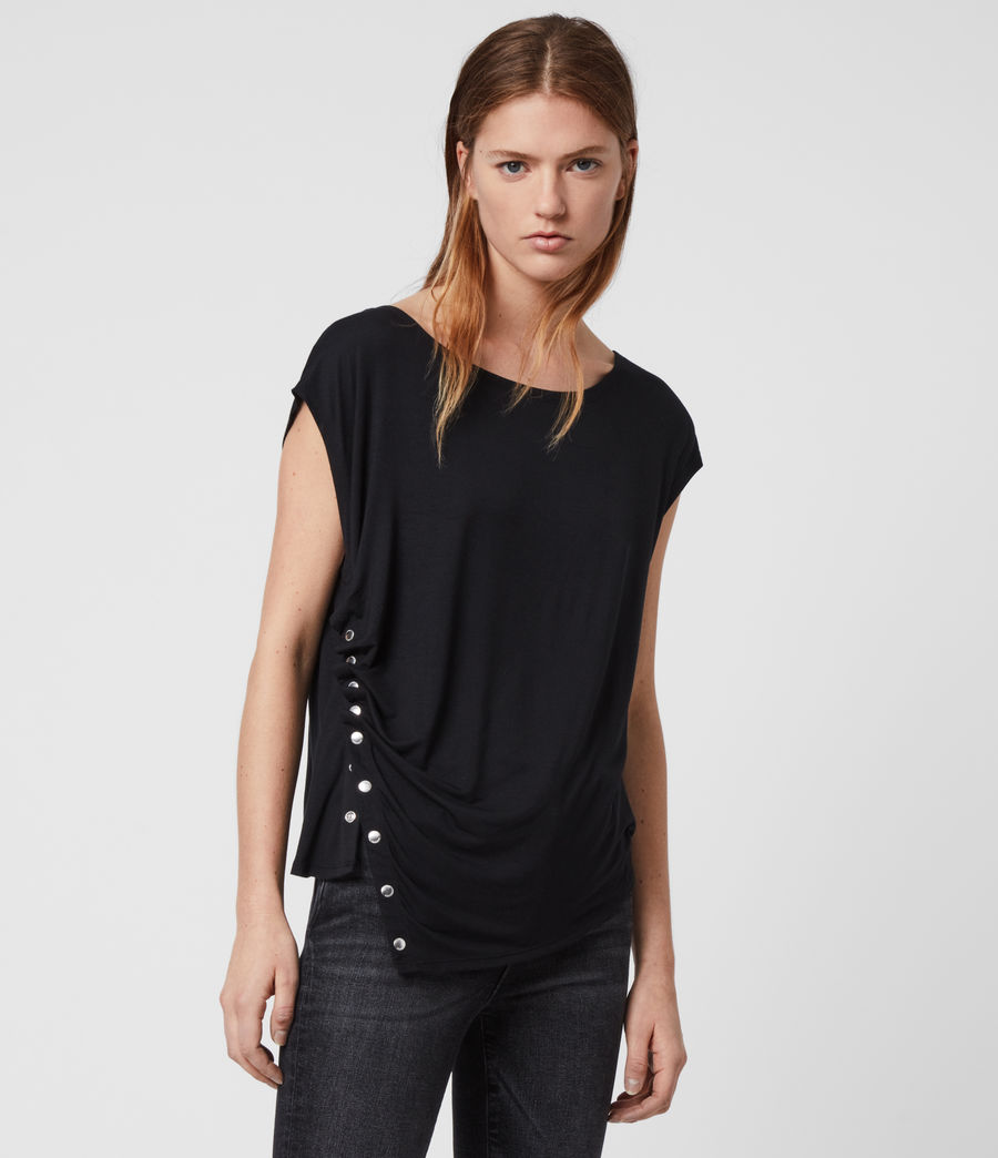 Women's Hatti Short Sleeve T-Shirt (black) - Image 1