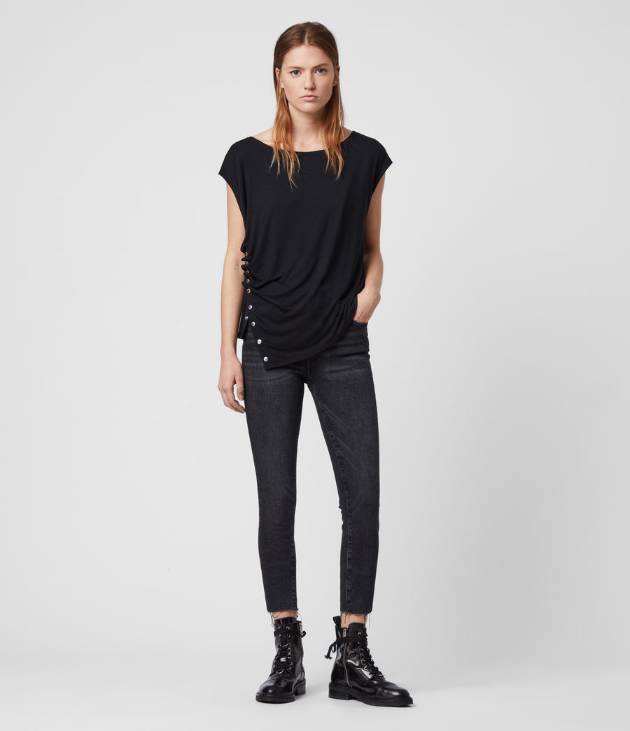 Women's Hatti Short Sleeve T-Shirt (black) - Image 3