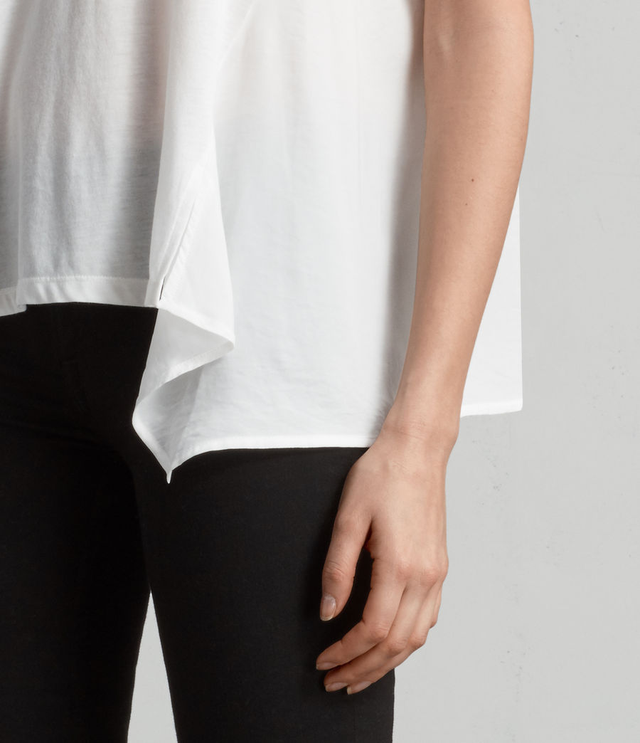 Damen Nadia T-Shirt (chalk_white) - Image 2
