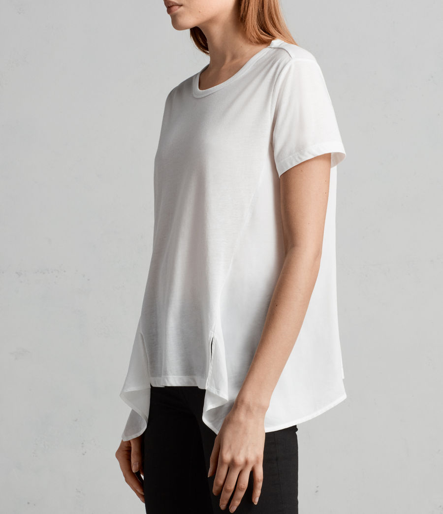 Damen Nadia T-Shirt (chalk_white) - Image 3