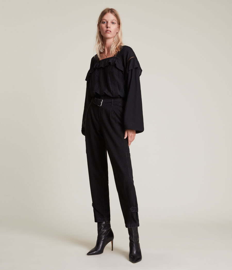 Womens Juliette Top (black) - Image 3