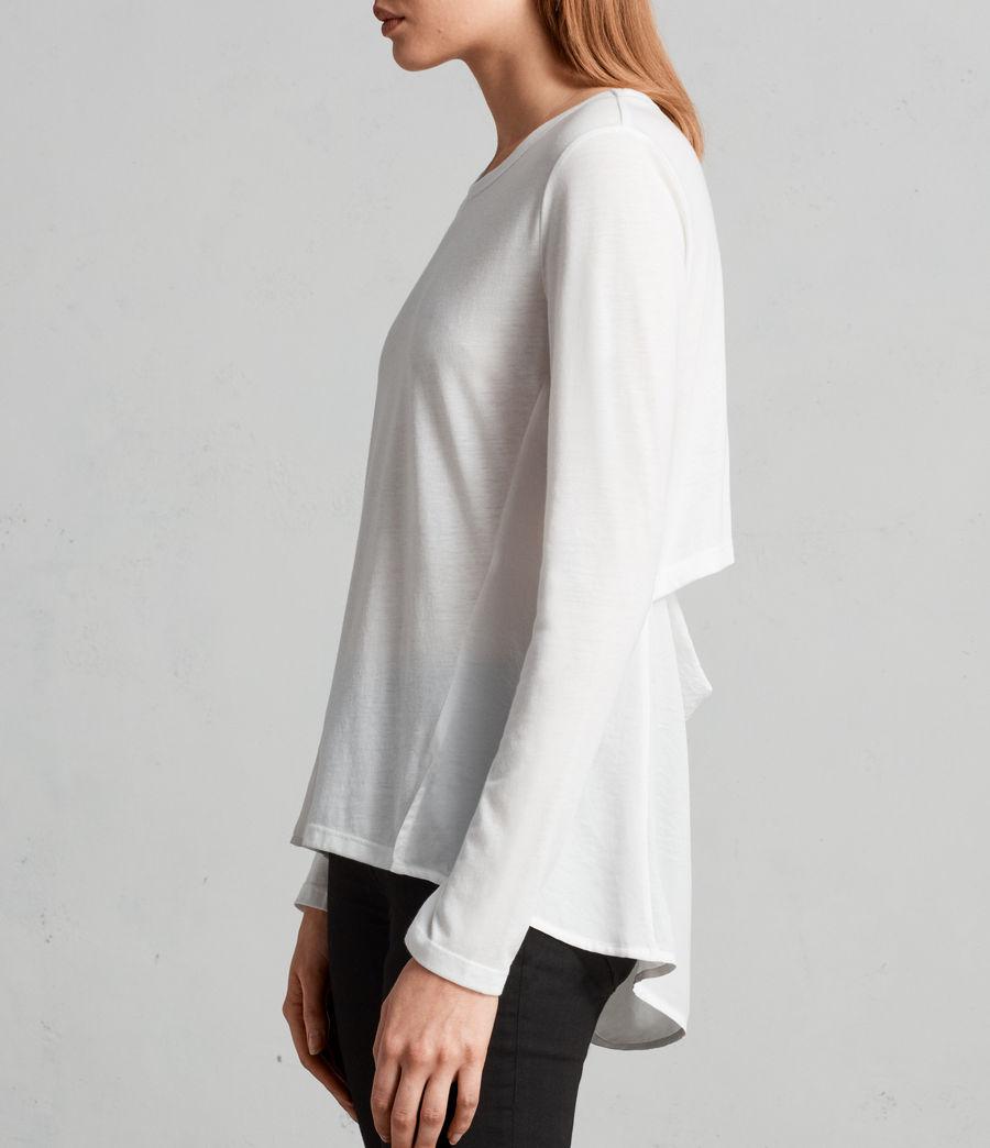 Womens Nadia Long Sleeve Tee (chalk_white) - Image 1