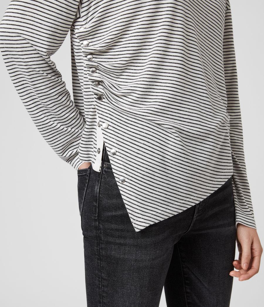 Women's Hatti Stripe T-Shirt (chalk_charcoal) - Image 4