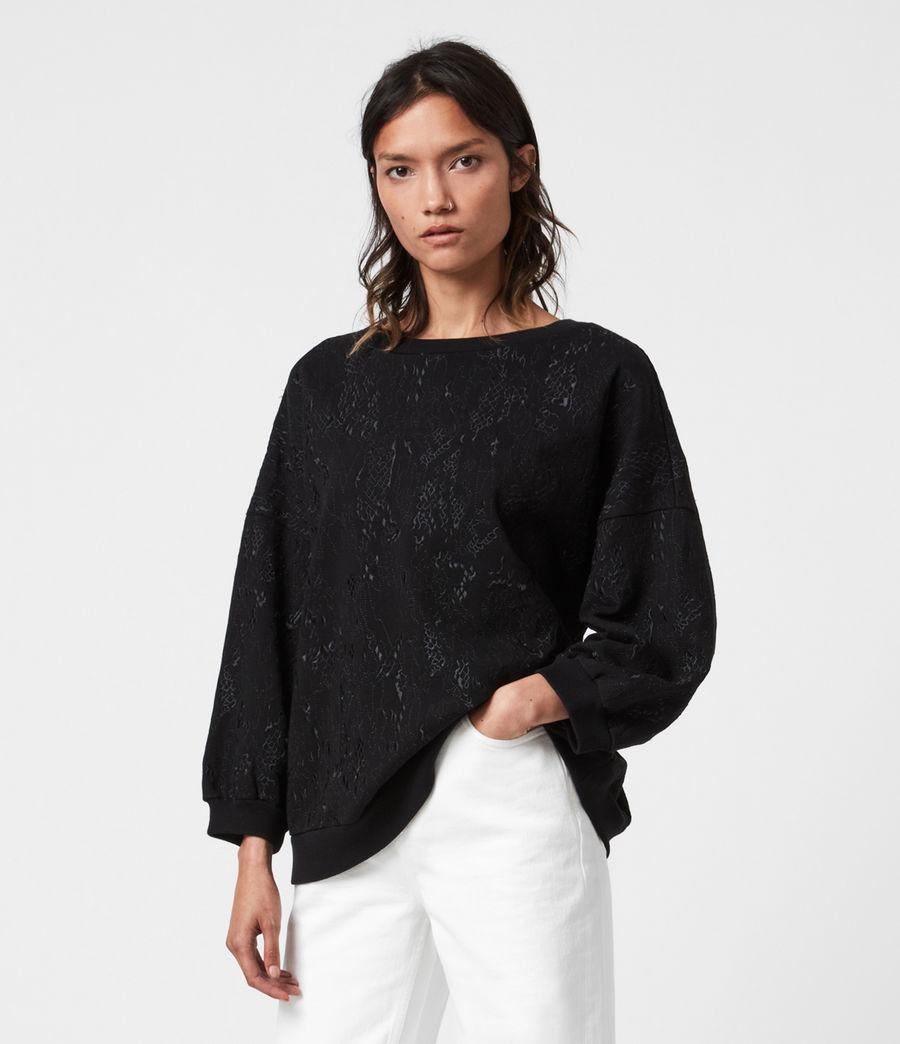 Womens Storn Masala Sweatshirt (black) - Image 1