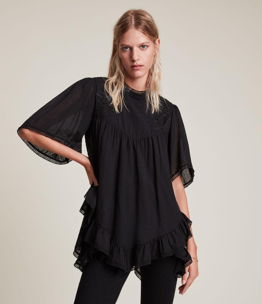 Womens Nico Top (black) - Image 1