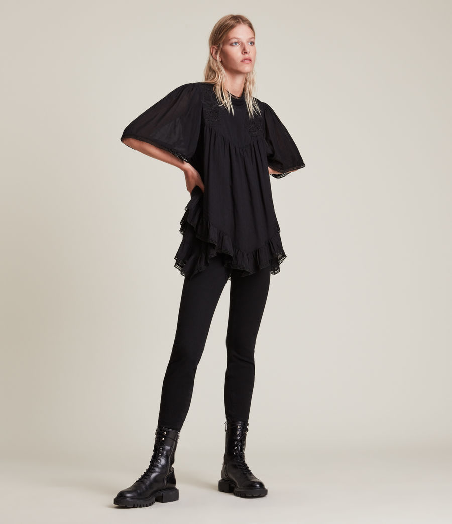 Womens Nico Top (black) - Image 3