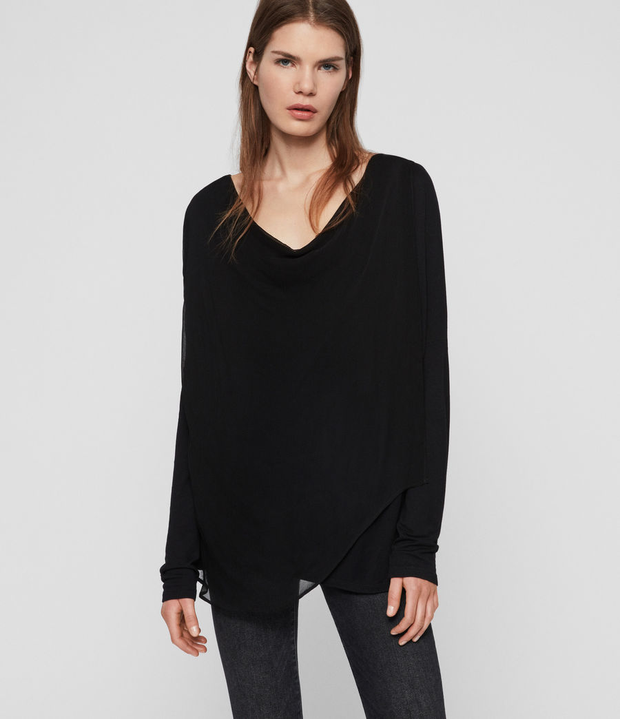 Womens Decle Top (black) - Image 1