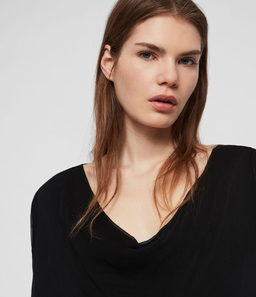 Women's Decle Top (black) - Image 3