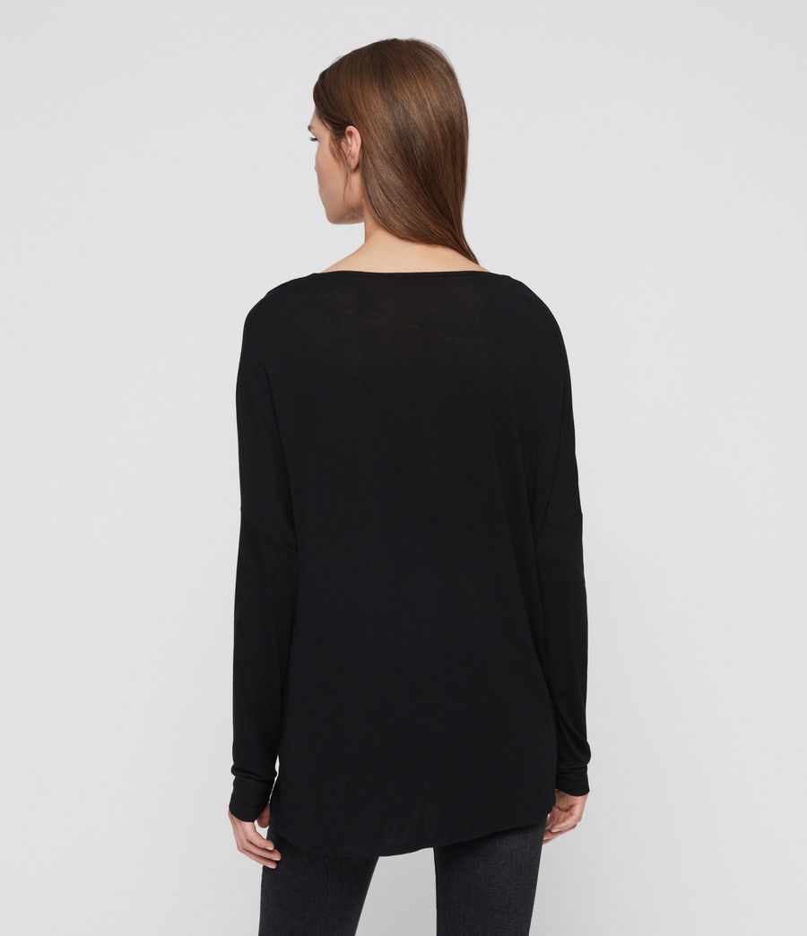 Women's Decle Top (black) - Image 6