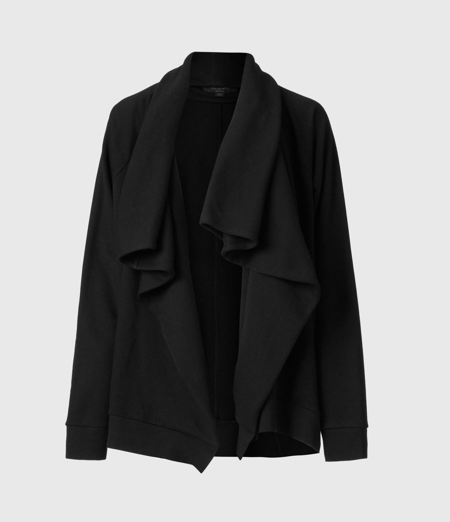 Womens Callie Jersey Cardigan (black) - Image 2