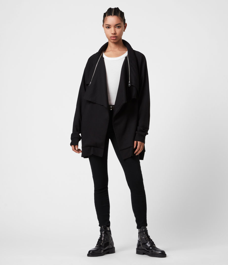 Womens Callie Jersey Cardigan (black) - Image 4