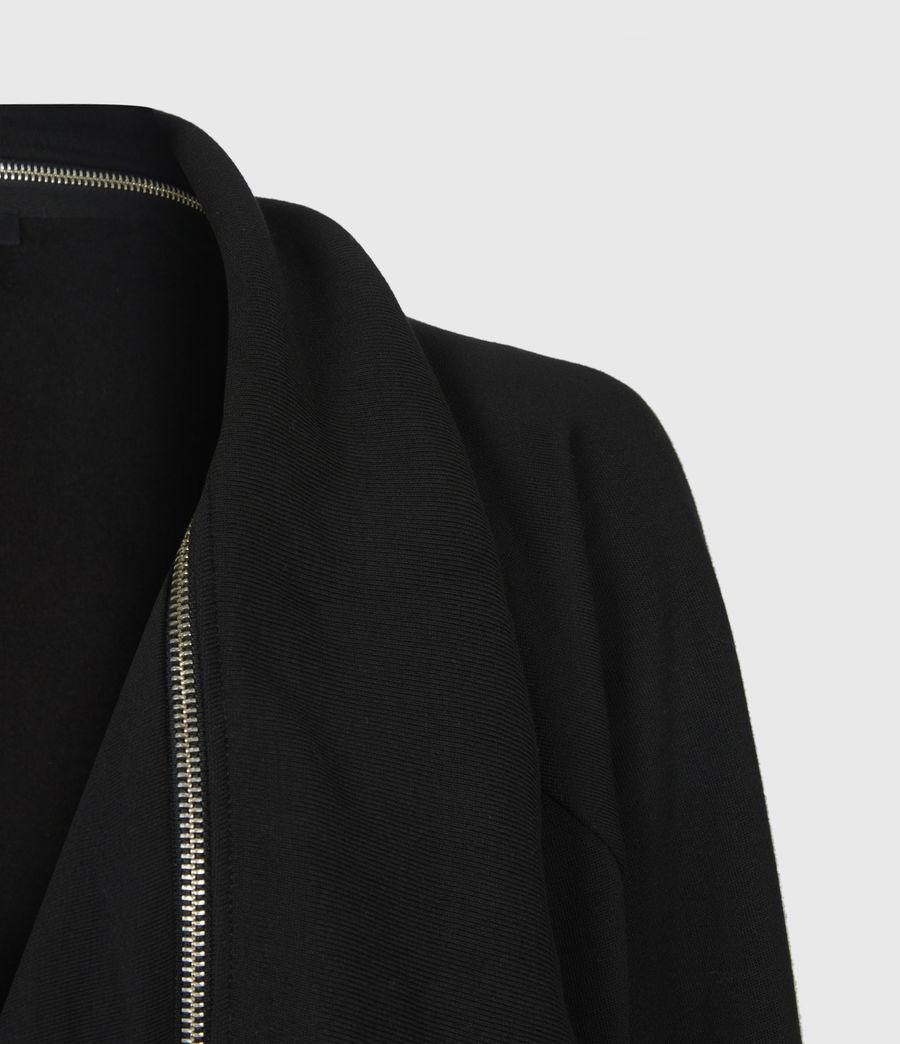 Womens Callie Jersey Cardigan (black) - Image 5