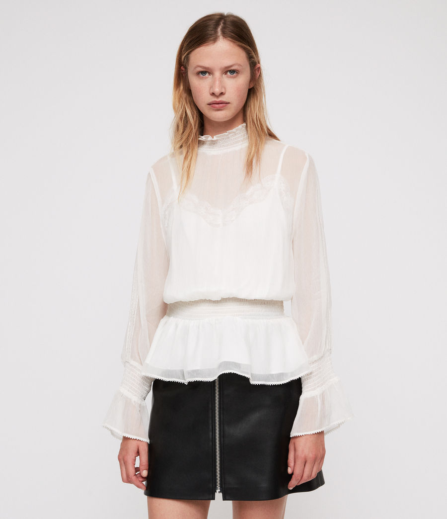 Womens Clarette Top (oyster) - Image 1