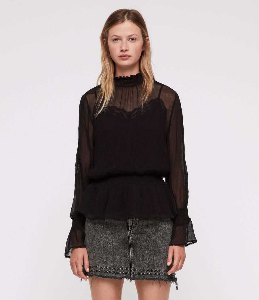 Mujer Clarette Top (black) - Image 1