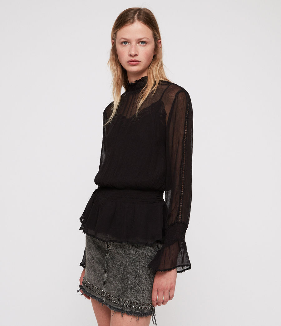 Mujer Clarette Top (black) - Image 3