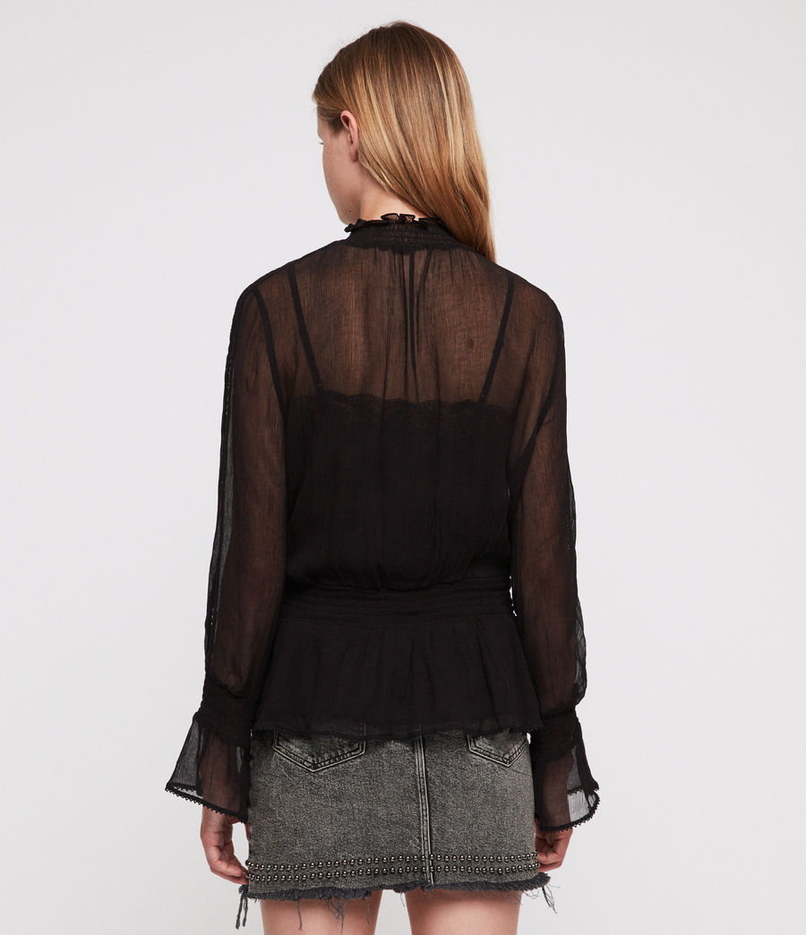Mujer Clarette Top (black) - Image 5