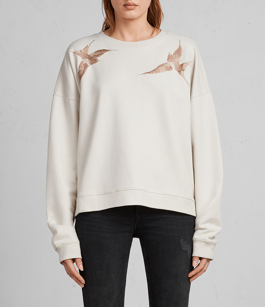 Femmes Sweat Birds (vintage_white) - Image 1