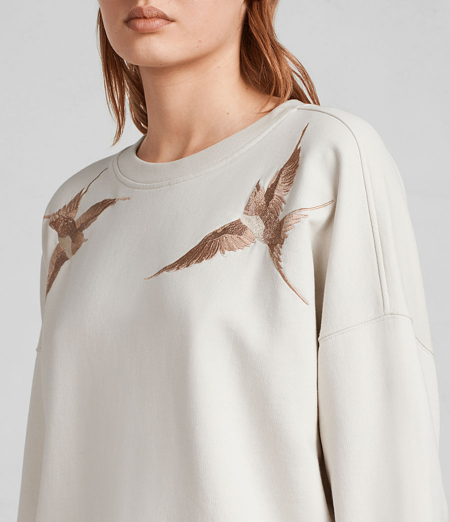 Womens Birds Sweatshirt (vintage_white) - Image 2
