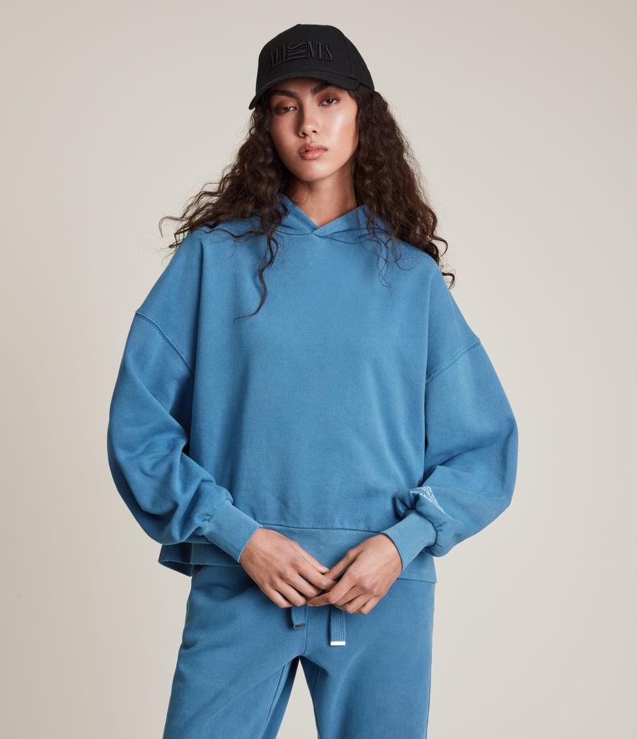 Womens Natural Talie Hoodie (indigo_blue) - Image 5