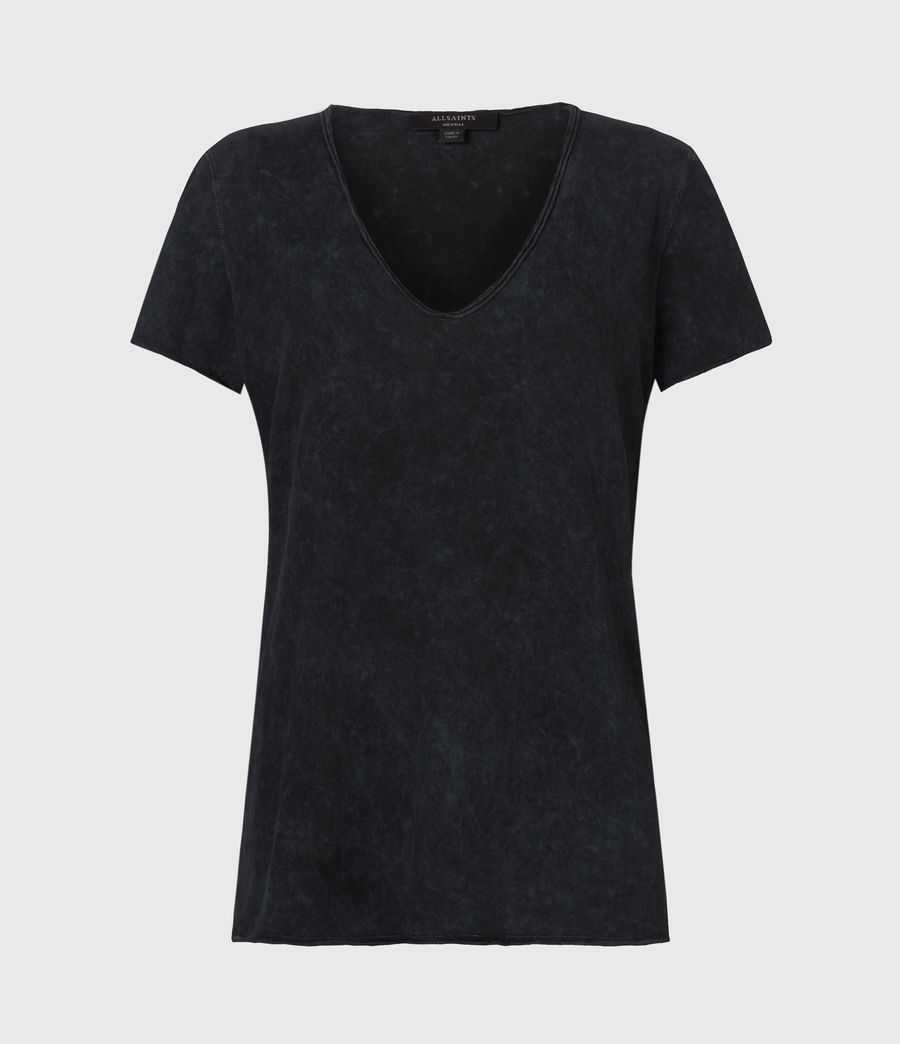 Damen Emelyn Budan T-Shirt (acid_washed_black) - Image 2
