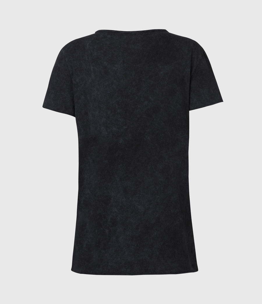 Damen Emelyn Budan T-Shirt (acid_washed_black) - Image 3