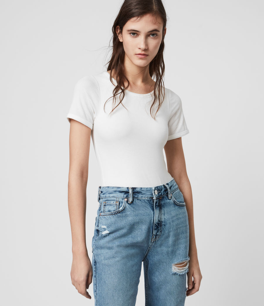 Damen Nino Short Sleeve Bodysuit (chalk_white) - Image 4